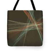 Lemans Computer Graphic Line Pattern Tote Bag