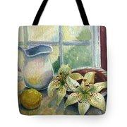 Lemon And Lillies Tote Bag
