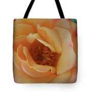 Lemon Blush Rose Tote Bag