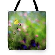 Lemon Butterfly In Summer Meadow  Tote Bag