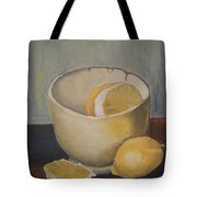Lemon In A Bowl Tote Bag