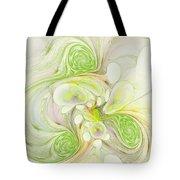 Lemon Lime Curly Tote Bag