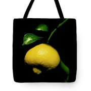 Lemon With Leaves Tote Bag