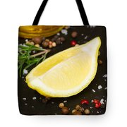Lemon With Spices  Tote Bag