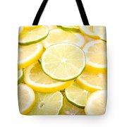 Lemons And Limes Abstract Tote Bag