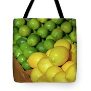 Lemons And Limes At Market Tote Bag