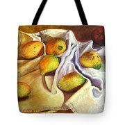 Lemons And Linen Tote Bag