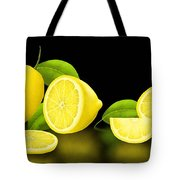 Lemons-black Tote Bag