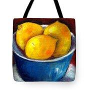 Lemons In A Blue Bowl Grace Venditti Montreal Art Tote Bag