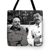Lenin And Stalin Circa 1923 Color And Drawing Added 2016    Tote Bag