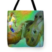 Leonidas And Soccer Shoes Tote Bag