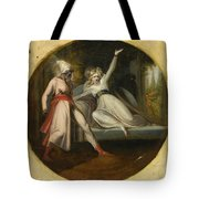 Leonore Discovering The Dagger Left By Alonzo Tote Bag