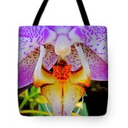 Leopard Dragon Orchid Tote Bag