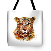 Leopard Head Watercolor Tote Bag