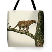 Leopard In A Sal Tree Tote Bag