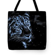 Leopard In The Darkness.  Tote Bag