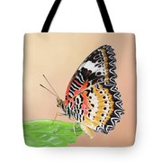Leopard Lacewing Butterfly #2 V2 Tote Bag