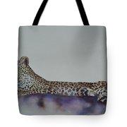 Leopard On Rock Tote Bag