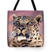 Leopard Portrait Number 3 Tote Bag by Michele A Loftus