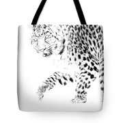Leopard Spots Black And White Tote Bag
