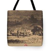 Les Anes De La Butte-aux-cailles (donkeys At La Butte-aux-cailles) Tote Bag
