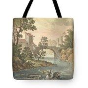 Les Poissons Et Le Cormoran (the Fish And Thecormorant) Tote Bag