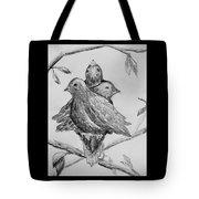 Les Trois Oiseaux Tote Bag