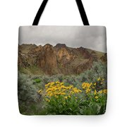 Leslie Gulch Sunflowers Tote Bag