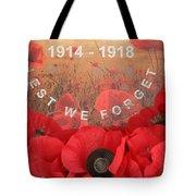 Lest We Forget - 1914-1918 Tote Bag