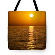 Lesvos Sunset Tote Bag by Meirion Matthias