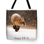 Let It Snow 4 - New Years Card Red Fox In The Snow Tote Bag