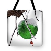 Let It Snow Christmas Ornament Tote Bag