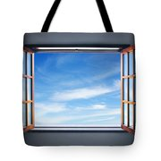 Let The Blue Sky In Tote Bag