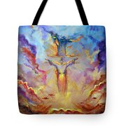 Let The  Earth Receive Her King  Tote Bag