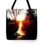 Let The Sun Light Your Path Tote Bag