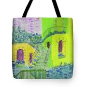 Let Them Eat Cake Multicolor Yellow Tote Bag