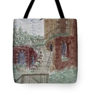 Let Them Eat Dark Chocolate Cake Tote Bag