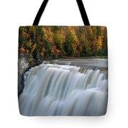 Letchworth Falls Sp Middle Falls Tote Bag