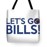 Let's Go Bills Tote Bag