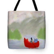 Let's Go Canoeing  Tote Bag