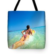 Lets Go Surfing Tote Bag