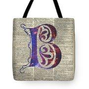 Letter B Monogram Tote Bag