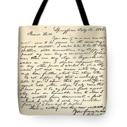 Letter From Abraham Lincoln To Alden Tote Bag