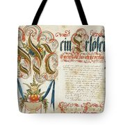 Letter With Signature Tote Bag