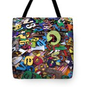 Letters And Numbers Tote Bag