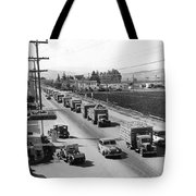 Lettuce Truck Armed Escorts Tote Bag