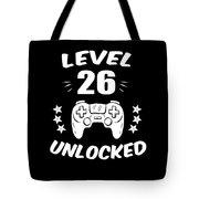Level 26 Unlocked Video Gamer Birthday Gift Tote Bag