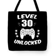Level 30 Unlocked Video Gamer Birthday Gift Tote Bag