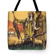 Lewis And Clark Expedition Scene Tote Bag