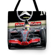 Lewis Hamilton, Mclaren- Mercedes Mp4-22 Tote Bag